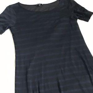 THEORY striped maxi dress Petite